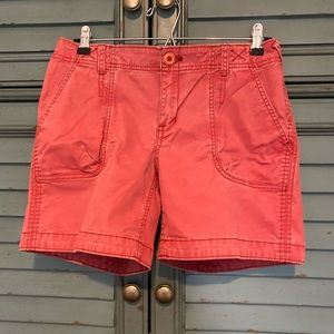 Eddie Bauer Mercer Fit denim shorts in red
